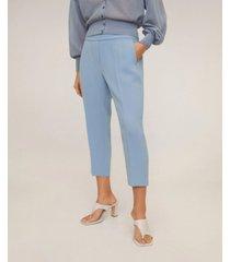 mango straight cut crop trousers