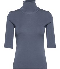 merino elbow sleeve top t-shirts & tops knitted t-shirts/tops blauw filippa k