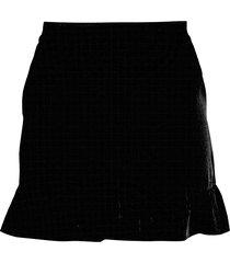 bcbgmaxazria women's ruffle-trim shorts - black - size xs