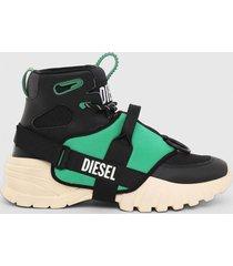 zapatilla s sharquez mid sneaker negro diesel