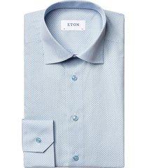 eton men's contemporary-fit dress shirt - blue - size 15.5