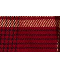women's madewell buffalo check cape scarf, size one size - red
