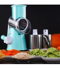 mano operado multi - funcional de picador de verduras queso máquina rebanadora, color al azar entrega