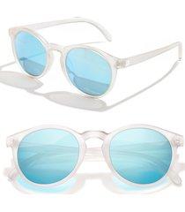 sunski dipsea 48mm polarized sunglasses - frosted sky
