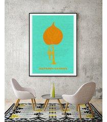 autumn leaves - jazz - plakat fine art 50x70 cm