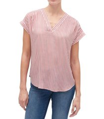 blusa manga corta cuello v rosa gap