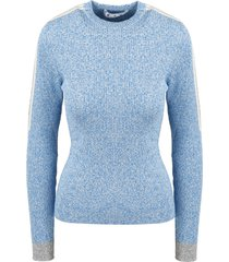 off-white mouline logo strip sweater