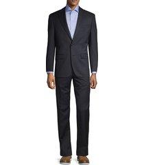 lauren ralph lauren men's two-piece classic fit neat wool-blend suit - black - size 42 l
