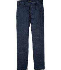 pantaloni chino in lino con cinta confortevole regular fit straifgt (blu) - bpc selection
