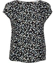 byidra ss blouse - blouses short-sleeved svart b.young