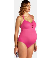 pez d'or one-piece maternity swimsuit, size x-large in fuchsia at nordstrom