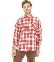 camisa franela basica rojo corona