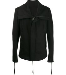 army of me wide collar zipped jacket - black