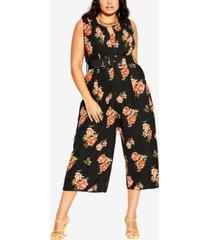 city chic trendy plus size petal power jumpsuit