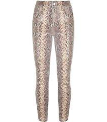 madrid faux snake skin pants