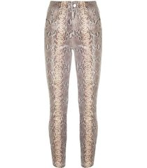 madrid faux snake skin pants