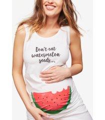 motherhood maternity don't eat watermelon seeds maternity tank