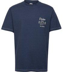 halma tee t-shirts short-sleeved blå dickies