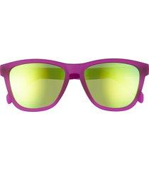 goodr gardening with a kraken 51mm mirrored polarized sunglasses - purple
