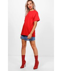 basic oversized boyfriend t-shirt, rood