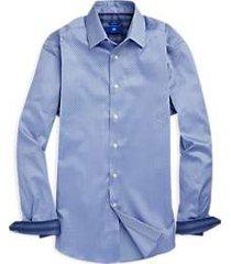 egara blue mini paisley sport shirt