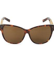 63mm oversized cat eye sunglasses