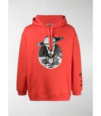 valentino print detail hoodie