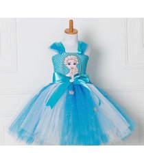 dress princess anna elsa snow queen party cosplay costume girl summer cloth cute
