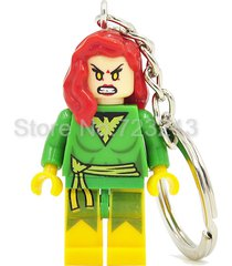 sa 1pc jean grey super hero keychain figure ring minifigure block lego toys gift