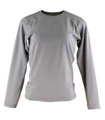 blusa térmica feminina segunda pele thermo premium original slim fit - cinza