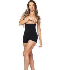 calcinha modeladora zee rucci boxer alta sem costura preta