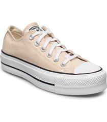 chuck taylor all star lift låga sneakers gul converse