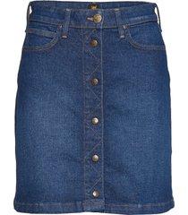 a line skirt knälång kjol blå lee jeans