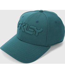 gorra verde jade oakley 6 panel stretch hat embossed