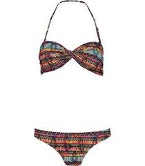 shiwi bikini bandeau flame multi color
