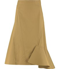 3.1 phillip lim cotton midi skirt