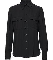 smooth twill police pkt shirt blouse lange mouwen zwart calvin klein