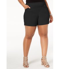 inc international concepts plus size pull-on shorts, created for macy's