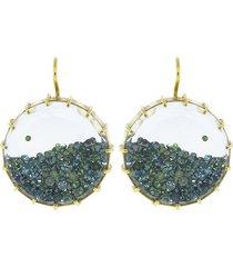 blue diamond shake earrings