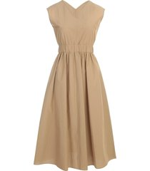 antonelli v neck sleeveless dress w/elastic waist