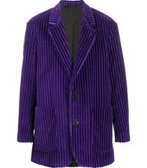 ami paris two-button short coat - purple