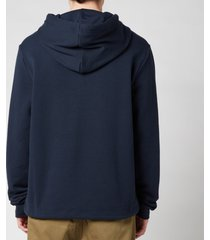lanvin men's printed hooded sweatshirt - midnight blue - xxl