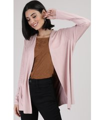 capa de suede feminina rosa claro