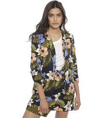 blazer vero moda multicolor - calce regular