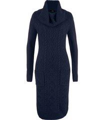 abito in maglia con tasche (blu) - bpc bonprix collection