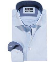 recall shaped fit overhemd met lange mouwen licht blauw