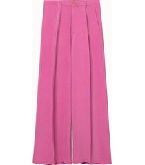 forte forte pantalone cupro rosa