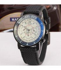 mecánico reloj azul vidrio moda casual reloj-blanco