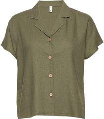 pzbianca shirt kortärmad skjorta grön pulz jeans