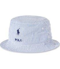 polo ralph lauren men's seersucker bucket hat